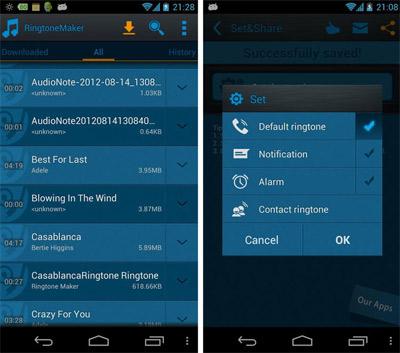 اپلیکیشن های ساخت رینگتون در موبایل